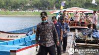Wakil Bupati Kebumen Arif Sugiyanto meninjau Waduk Sempor. (Foto: Istimewa)