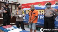 Kapolres Kebumen AKBP Rudy Cahya Kurniawan meminta keterangan kepada tersangka. (Foto: Polres Kebumen)
