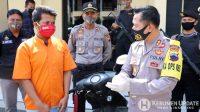 Tersangka dimintai keterangan oleh Kapolres Kebumen AKBP Rudy Cahya Kurniawan. (Foto: Polres Kebumen)